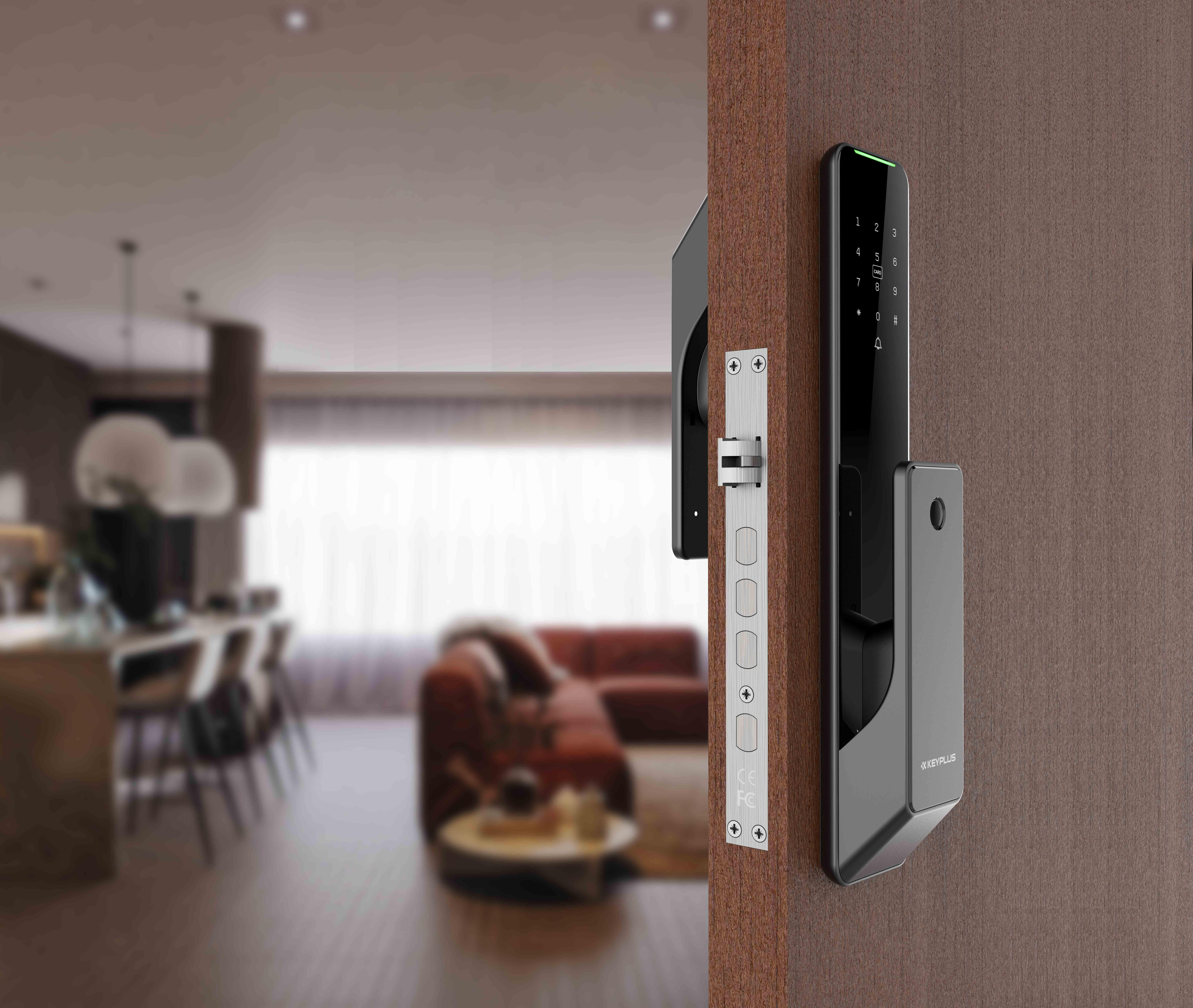 PUSH-PULL Automatic Biometric Fingerprint Digital App Controlled Smart Lock (2)